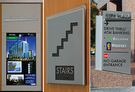 Design Build Signage Solution Includes Custom Exterior, Interior And  Digital Signage For Class A Office Tower
