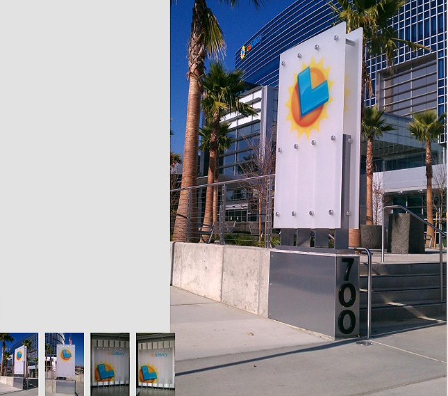 Exterior Signage For Diamond Teague Pier. Click Here To View The Entry.