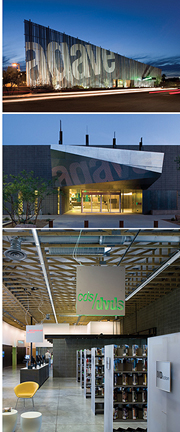 agave library, interior signage, exterior signage